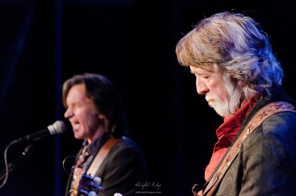 John McEuen on banjo and Jeff Hanna on guitar and vocals during their performance with Nitty Gritty Dirt Band at the Landis Theater in Vineland, NJ.