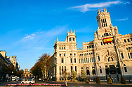 Palacio de Comunicaciones on March 13, 2020 in Madrid, Spain<br /> Spain is now the second hardest hit European country next to Italy in Covid-19 cases.