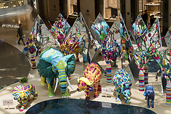 July 27, 2017 - Shanghai, Shanghai, China - Shanghai, CHINA-July 27 2017: (EDITORIAL USE ONLY. CHINA OUT) ..The three-dimensional animal sculpture exhibition is held at a shopping mall in Shanghai, July 27th, 2017. The sculptures, created by Australian artist Shanti Sparrow,make the shopping mall look like a zoo. (Credit Image: © SIPA Asia via ZUMA Wire)