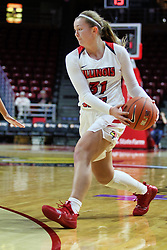 NORMAL, IL - December 16: Kayel Newland during a college women's basketball game between the ISU Redbirds and the Maryville Saints on December 16 2018 at Redbird Arena in Normal, IL. (Photo by Alan Look)