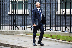 London, UK. 29th January, 2019. Sajid Javid MP, Secretary of State for the Home Department, leaves 10 Downing Street following a Cabinet meeting on the day of votes in the House of Commons on amendments to Prime Minister Theresa May's final Brexit withdrawal agreement which could determine the content of the next stage of negotiations with the European Union.