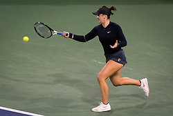 March 15, 2019 - Indian Wells, USA - Bianca Andreescu of Canada in action during her semi-final at the 2019 BNP Paribas Open WTA Premier Mandatory tennis tournament (Credit Image: © AFP7 via ZUMA Wire)