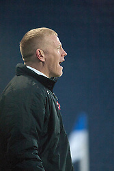 Falkirk's manager Gary Holt.<br /> Falkirk 4 v 1 Livingston, Scottish Championship game played today at the Falkirk Stadium.<br /> ©Michael Schofield.
