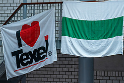 Flags Texel & Groningen during United States - Netherlands, FIVB U20 Women's World Championship on July 15, 2021 in Rotterdam