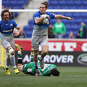 Mike Ellery, Saracens, in action during the London Irish Vs Saracens Aviva Premiership Rugby match, the first Premiership game to be played overseas at Red Bull Arena, Harrison, New Jersey. USA. 12th March 2016. Photo Tim Clayton