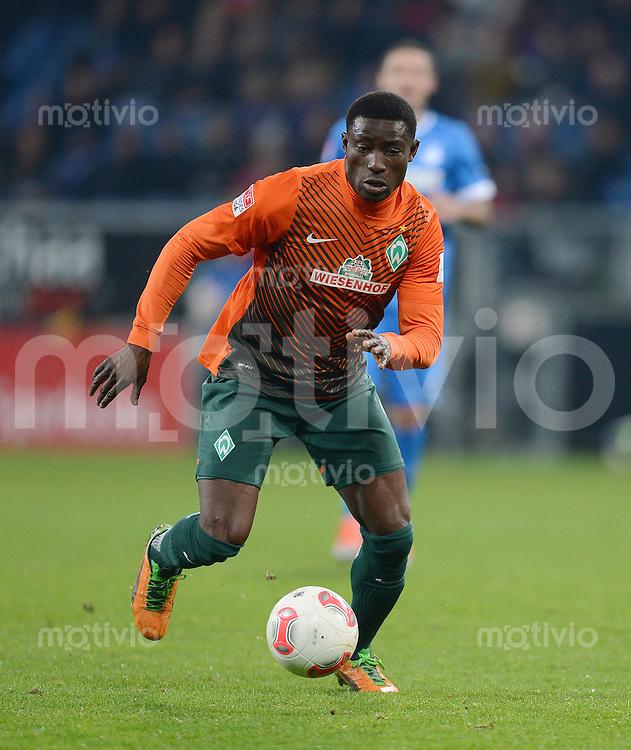 FUSSBALL   1. BUNDESLIGA  SAISON 2012/2013   15. Spieltag TSG 1899 Hoffenheim - SV Werder Bremen    02.12.2012 Joseph Akpala (SV Werder Bremen) am Ball