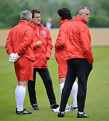 19.05.2010, Arena, Irdning, AUT, FIFA Worldcup Vorbereitung, Training England, im Bild England Nationaltrainer/ Manager Fabio Capello mit seinem Trainerstab, EXPA Pictures © 2010, PhotoCredit: EXPA/ S. Zangrando / SPORTIDA PHOTO AGENCY