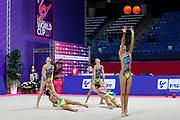 The national team of Japan during team final at the Pesaro World Championships at Virtifigo Arena, May 30, 2021.