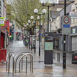 Swindon Town Centre during covid pandemic 2020 England UK