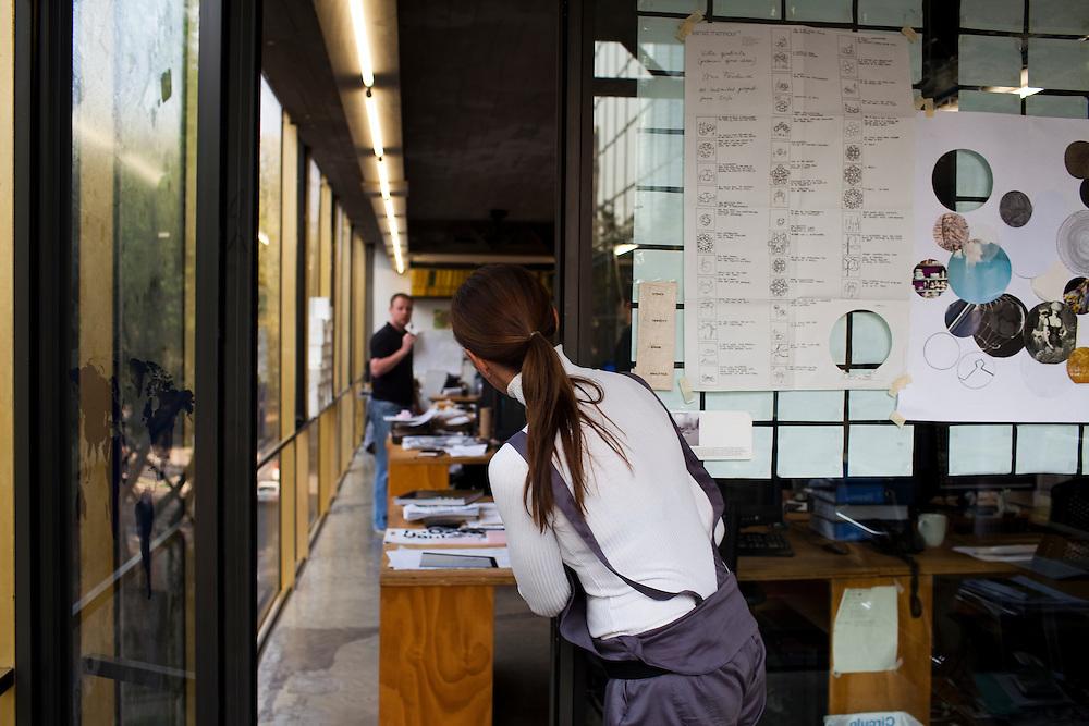 Tatiana Bilbao inside her office in Mexico City.