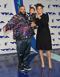 August 27, 2017 - Inglewood, California, U.S. - DJ Khaled, Nicole Tuck and Asahd Tuck Khaled arrives for the 2017 MTV Video Music Awards at The Forum. (Credit Image: © Lisa O'Connor via ZUMA Wire)