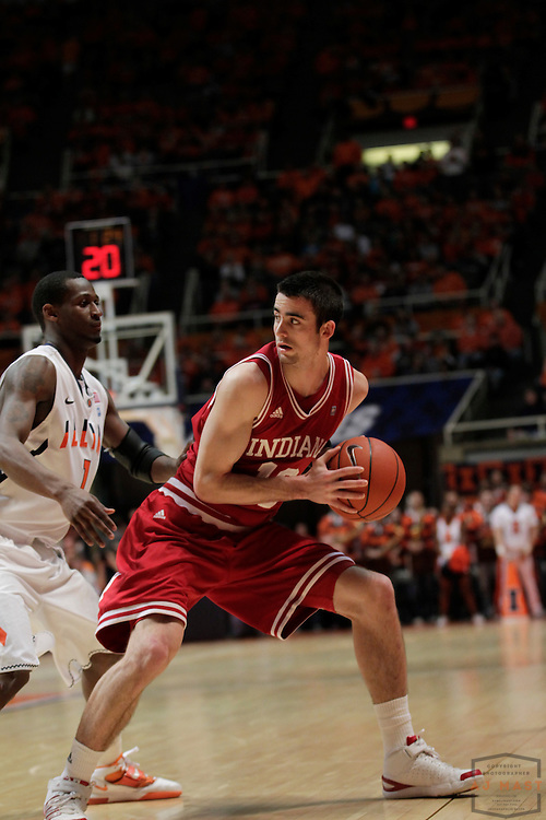05 March 2011: Indiana guard/forward Will Sheehey (10) as the Indiana Hoosiers played the Illinois Illini in a college basketball game in Champaign, Ill.