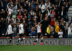 Bradley Johnson of Derby County (R) celebrates scoring his sides third goal - Mandatory byline: Jack Phillips / JMP - 07966386802 - 18/10/2015 - FOOTBALL - The iPro Stadium - Derby, Derbyshire - Derby County v Wolverhampton Wanderers - Sky Bet Championship