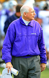 Nov 14, 2009; Manhattan, KS, USA; Kansas State head coach Bill Snyder walks off the field after the loss to the Missouri Tigers 38-12 at Bill Snyder Family Stadium. Mandatory Credit: Denny Medley-US PRESSWIRE