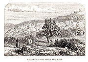 Nazareth, Galilee from above the well From the Book 'Bible places' Bible places, or the topography of the Holy Land; a succinct account of all the places, rivers and mountains of the land of Israel, mentioned in the Bible, so far as they have been identified, together with their modern names and historical references. By Tristram, H. B. (Henry Baker), 1822-1906 Published in London in 1897