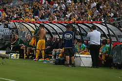 Tim Cahill retires from International Football. 20 Nov 2018 Pictured: Tim Cahill just about to run on. Photo credit: David Petranker/Mega TheMegaAgency.com +1 888 505 6342