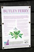 Information notice board Butley Ferry, Butley Creek river, Boyton, Suffolk