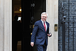 © Licensed to London News Pictures. 07/03/2017. London, UK. Secretary of State for Exiting the European Union David Davis leaves 10 Downing Street. Photo credit: Rob Pinney/LNP