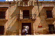 MEXICO, OAXACA STATE, COLONIAL CITIES Oaxaca; Casa de Cortes, house of Cortes when he was Marquis de Valle de Oaxaca; on Alcala near Zocalo