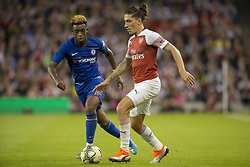 August 2, 2018 - Dublin, Ireland - Hector Bellerin of Arsenal with Tammy Abraham of Chelsea during the International Champions Cup match between Arsenal FC and Chelsea FC at Aviva Stadium in Dublin, Ireland on August 1, 2018  (Credit Image: © Andrew Surma/NurPhoto via ZUMA Press)