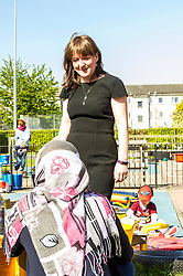 Pictured: Ms Todd<br /> The Minister for Childcare and Early Years, Maree Todd visited North Edinburgh Childcare and Training centre today and welcomed the childcare deposit pilot. Ms Todd met staff and children at the centre to discuss the pilot.<br /> <br /> Ger Harley | Edinburgh Elite Media