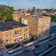 Kansas City Missouri, West Side neighborhood, Switzer School post-renovation and conversion to residential use.