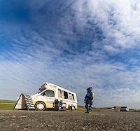 Contemplating the Ice Cream Van at Compton Beach, Isle of Wight