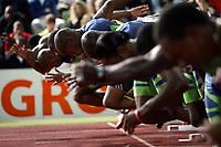 Start 100m der Maenner mit Asafa Powell (JAM). © Valeriano Di Domenico/EQ Images