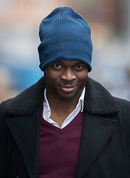 © Licensed to London News Pictures. 12/12/2016. London, UK. Sam Sodje arrives at the Old Bailey. Former Premier League player Sam Sodje and three of his brothers have been charged with fraudulent trading in connection with their Sodje Sports Foundation charity. Photo credit: Peter Macdiarmid/LNP