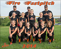 Fire Fastpitch Team & Individual Photos, June 18, 2014