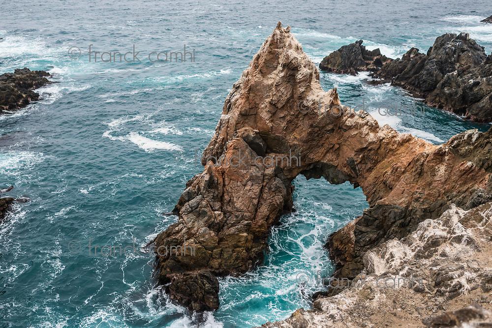 cliffs near the sea in the peruvian coast at puerto inca Peru