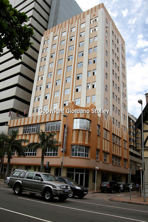 DURBAN - 3 January 2013 - Durban's Albany Hotel at the corner of Anton Lembede Street (formerly Smith Street) and Albany Grove is a three star hotel in the city's centre. The art deco building recently underwent a refurbishment and has 80 rooms. It is located directly across the road from Durban's city hall.Picture: Allied Picture Press/APP