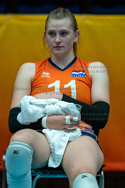 Elles Dambrink of Netherlands after semi final Netherlands - Serbia, FIVB U20 Women's World Championship on July 17, 2021 in Rotterdam