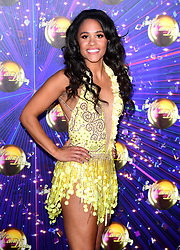 Alex Scott arriving at the red carpet launch of Strictly Come Dancing 2019, held at BBC TV Centre in London, UK.