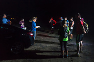 High Point, New Jersey - The 50-mile division of the Shawangunk Ridge Trail Run/Hike started at the boat launch in the Bashakill Wildlife Management Area on Sept. 16, 2017.