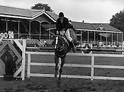 "07/08/1980<br /> 08/07/1980<br /> 07 August 1980<br /> R.D.S. Horse Show: John Player Top Score Competition, Ballsbridge, Dublin.  Trevor Monson (Ireland (Ind.)) 0n ""Kingsbridge""."