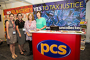 Frances O'Grady vising the PCS stand at the TUC congress 2016, Brighton. UK.