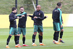 March 20, 2018 - Lisbon, Lisbon, Portugal - Portugal midfielder Joao Mario (C) during training session at Cidade do Futebol training camp in Oeiras, outskirts of Lisbon, on March 20, 2018 ahead of the friendly football match in Zurich against Egypt on March 23. (Credit Image: © Dpi/NurPhoto via ZUMA Press)