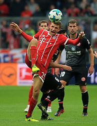 20170916, 1.BL. FCB vs Mainz 05, 1.Bundesliga, Allianz Arena Muenchen, Fussball, Sport, im Bild:...Thomas Mueller (FCB) von Danny Latza (Mainz 05) gefault..*Copyright by:  Philippe Ruiz..Postbank Muenchen.IBAN: DE91 7001 0080 0622 5428 08..Oberbrunner Strasse 2.81475 MŸnchen, .Tel: 089 745 82 22, .Mobil: 0177 29 39 408..( MAIL:  philippe_ruiz@gmx.de ) ..Homepage: www.sportpressefoto-ruiz.de. (Credit Image: © Philippe Ruiz/Xinhua via ZUMA Wire)