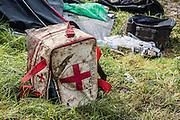 England are dumped out, Rubbish is everywhere - The 2016 Glastonbury Festival, Worthy Farm, Glastonbury.