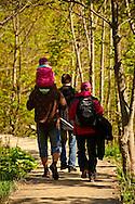 Hikers in the Plitvice ( Plitvika ) Lakes National Park, Croatia. A UNESCO World Heritage Site