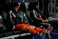 Real Madrid´s goalkeeper Iker Casillas awaits at the bench for the beginning of La Liga match at Santiago Bernabeu stadium in Madrid, Spain. March 15, 2015. (ALTERPHOTOS/Victor Blanco)