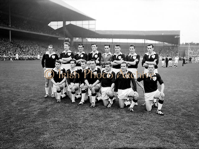 Galway player before the All Ireland Senior Gaelic Football Championship Final Dublin V Galway at Croke Park on the 22nd September 1963. Dublin 1-9 Galway 0-10.<br />