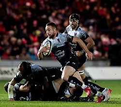 Toulon's Alby Mathewson makes a break<br /> <br /> Photographer Simon King/Replay Images<br /> <br /> European Rugby Champions Cup Round 6 - Scarlets v Toulon - Saturday 20th January 2018 - Parc Y Scarlets - Llanelli<br /> <br /> World Copyright © Replay Images . All rights reserved. info@replayimages.co.uk - http://replayimages.co.uk