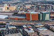 Aerial view of World Market Center, Las Vegas city, Nevada, USA
