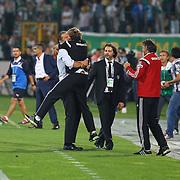 Besiktas's coach Slaven Bilic celebrate victory during the Turkish soccer super league match Bursaspor between Besiktas at the Ataturk Stadium in Bursa Turkey on Monday, 22 September 2014. Photo by TURKPIX