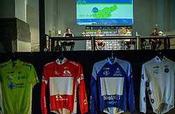 Dare Rupar, Matej Mohoric, Tadej Pogacar and Diego Ulissi during press conference prior to the 27th Tour of Slovenia, on June 08, 2021 in Ptuj, Slovenia. Photo by Vid Ponikvar / Sportida