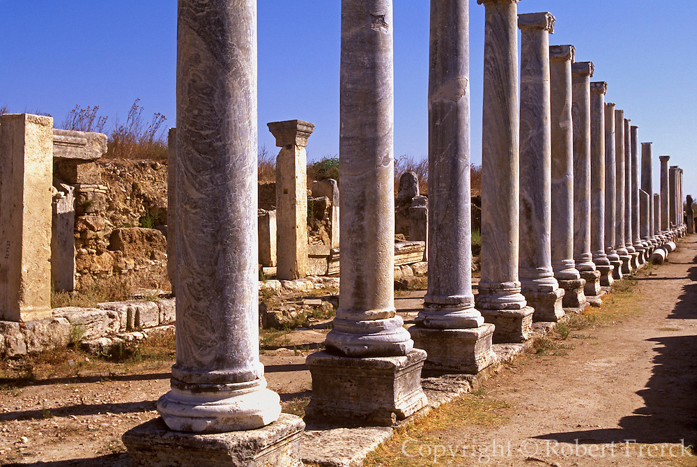 TURKEY, GREEK AND ROMAN Perge; columns of stoa, Agora market