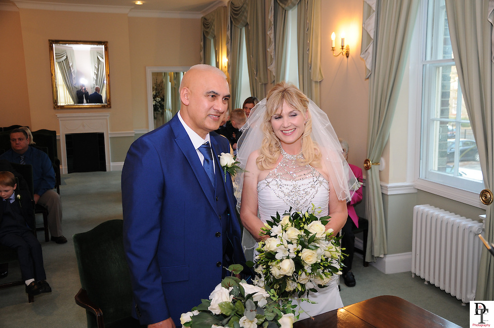 Portsmouth Registry office Wedding by David Timpson photography with Helen & Keith Agacy