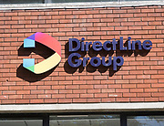 Direct Line Group insurance company offices, Princes Street, Ipswich, Suffolk, England, UK close up of sign
